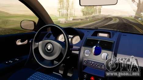 Renault Megane CPJ para GTA San Andreas vista hacia atrás