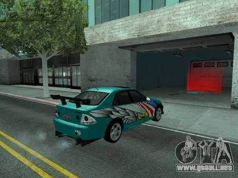 Toyota Altezza Tunable para visión interna GTA San Andreas