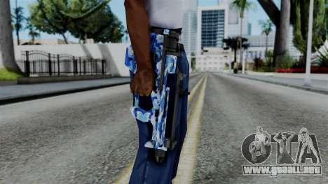 CoD Black Ops 2 - PDW-57 Camo Blue para GTA San Andreas tercera pantalla