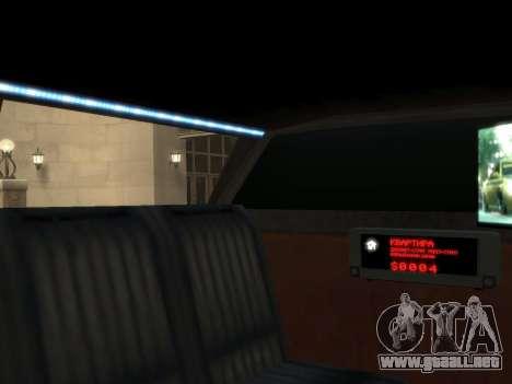 Taxi STRECH para GTA 4 visión correcta