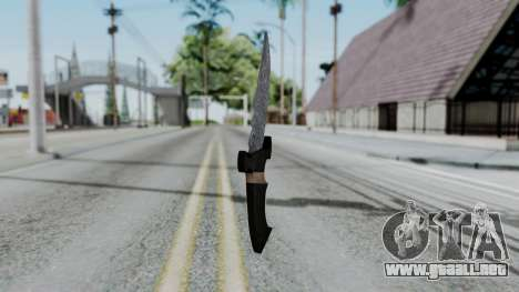 New Knife para GTA San Andreas segunda pantalla