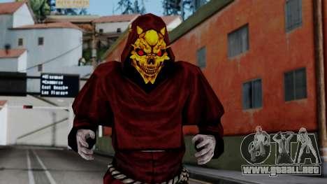 Monje Skull Gold Skin para GTA San Andreas