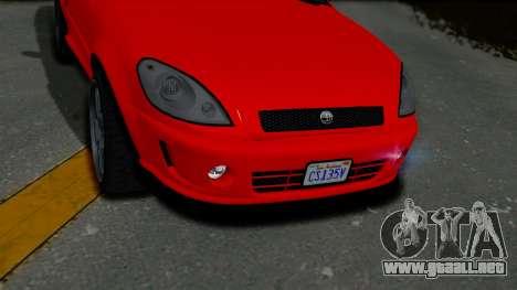 GTA 5 Declasse Premier Coupe IVF para GTA San Andreas vista hacia atrás