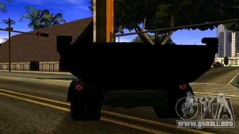 ZIL 130 para GTA San Andreas vista posterior izquierda