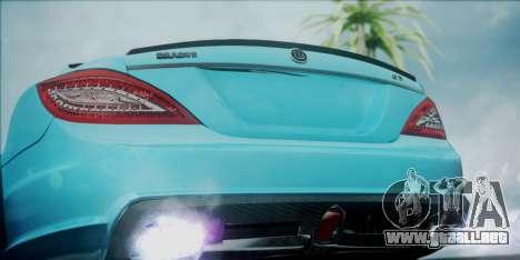 Mercedes-Benz CLS 63 BRABUS para GTA San Andreas vista hacia atrás