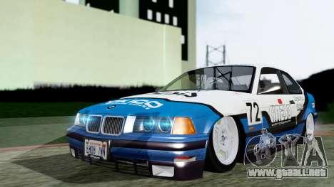 BMW M3 Coupe E36 (320i) 1997 para vista lateral GTA San Andreas