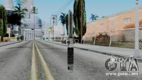 CoD Black Ops 2 - Balistic Knife para GTA San Andreas segunda pantalla
