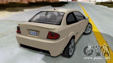 GTA 5 Declasse Premier IVF para GTA San Andreas left