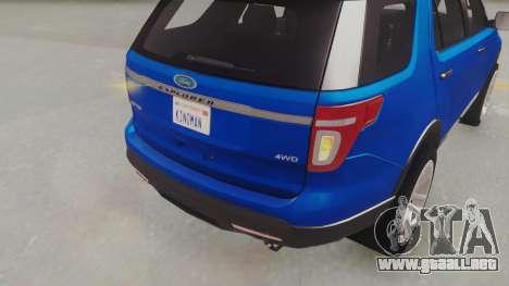 Ford Explorer para GTA San Andreas vista hacia atrás