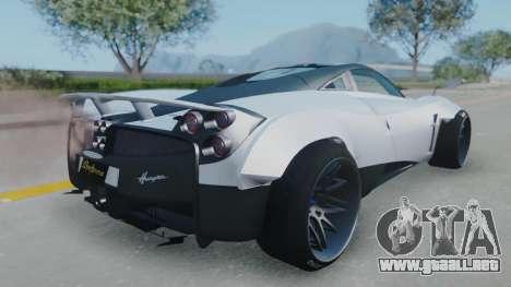 Pagani Huayra LB Performance para GTA San Andreas left