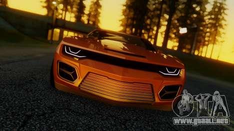 Chevrolet Camaro DOSH Tuning v2 para GTA San Andreas vista posterior izquierda
