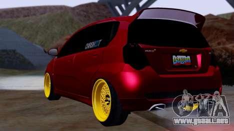 Chevrolet Aveo Stance para GTA San Andreas left