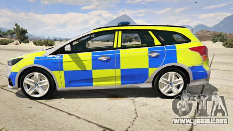 GTA 5 2015 Police Ford Focus ST Estate vista lateral izquierda