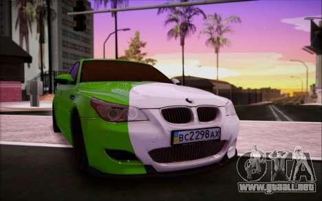 BMW m5 e60 Verdura para visión interna GTA San Andreas