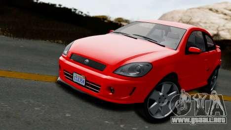GTA 5 Declasse Premier Coupe IVF para GTA San Andreas vista posterior izquierda