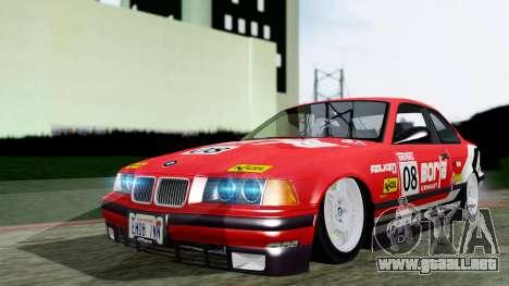 BMW M3 Coupe E36 (320i) 1997 para la visión correcta GTA San Andreas