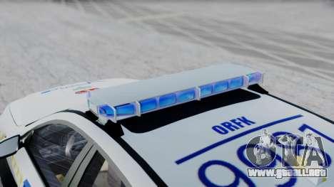 BMW M5 F10 Hungarian Police Car para GTA San Andreas vista posterior izquierda