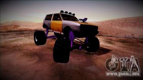 Club Monster Truck para GTA San Andreas vista posterior izquierda
