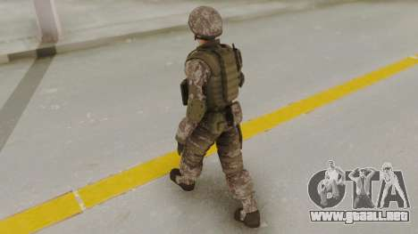 US Army Urban Soldier from Alpha Protocol para GTA San Andreas tercera pantalla