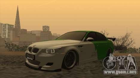 BMW m5 e60 Verdura para GTA San Andreas left