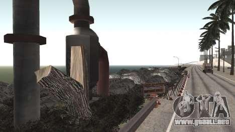 Road repair Los Santos - Las Venturas para GTA San Andreas tercera pantalla