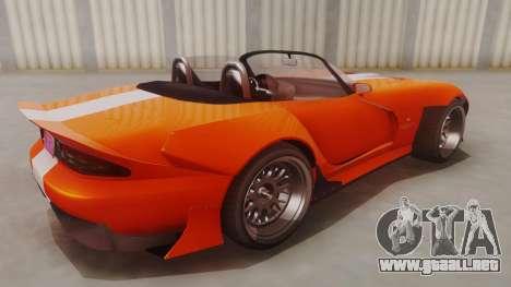 GTA 5 Bravado Banshee 900R para GTA San Andreas vista posterior izquierda