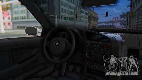 BMW 320i E36 MPower para GTA San Andreas vista hacia atrás