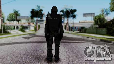 Black SWAT para GTA San Andreas tercera pantalla