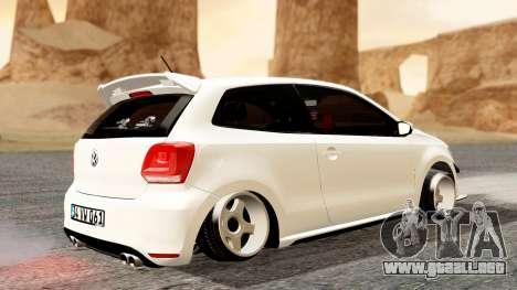 Volkswagen Polo GTI para GTA San Andreas vista posterior izquierda