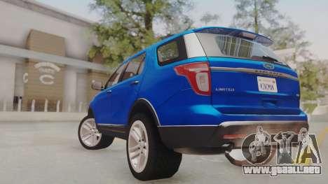 Ford Explorer para GTA San Andreas left