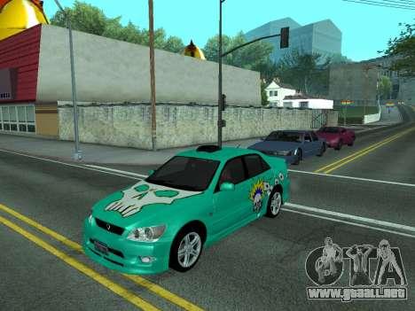 Toyota Altezza Tunable para GTA San Andreas vista posterior izquierda