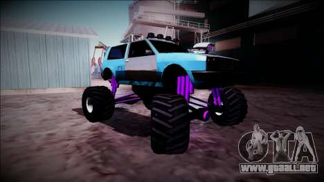 Club Monster Truck para GTA San Andreas vista hacia atrás