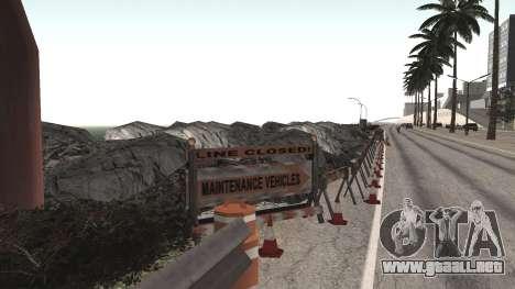 Road repair Los Santos - Las Venturas para GTA San Andreas quinta pantalla