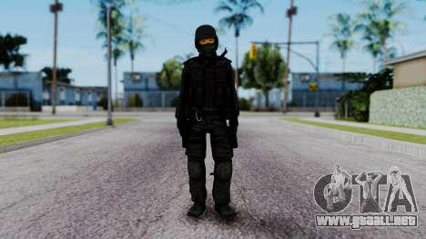 Black SWAT para GTA San Andreas segunda pantalla