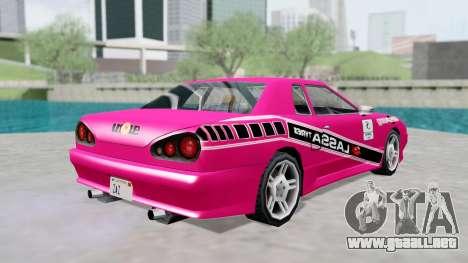 Elegy 4 Drift Drivers V2.0 para la visión correcta GTA San Andreas