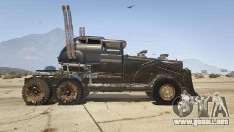 GTA 5 Mad Max The War Rig vista lateral izquierda