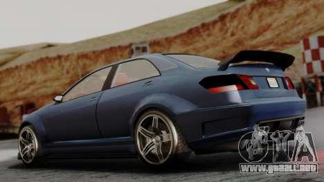 GTA 5 Benefactor Schafter V12 para GTA San Andreas left