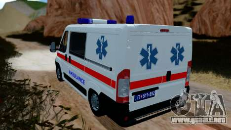 Fiat Ducato Serbian Ambulance para GTA San Andreas left