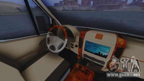 Volkswagen Crafter 2015 para visión interna GTA San Andreas