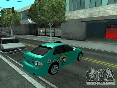 Toyota Altezza Tunable para la visión correcta GTA San Andreas