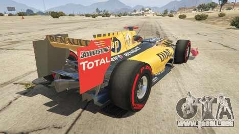 GTA 5 Renault F1 vista lateral izquierda trasera