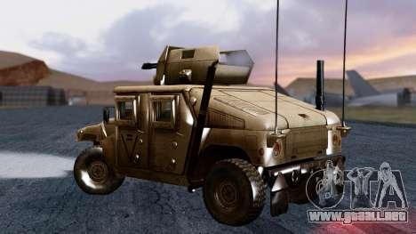 HUMVEE M1114 Desert para GTA San Andreas left