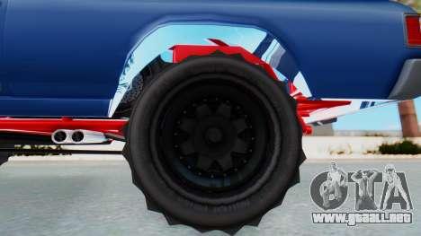 GTA 5 Cheval Picador BAJA Truck para GTA San Andreas vista posterior izquierda