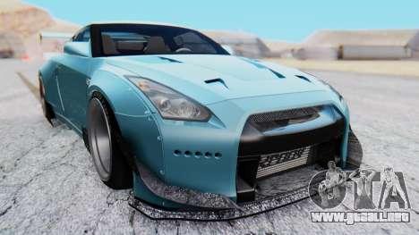 Nissan GT-R R35 Rocket Bunny v2 para la visión correcta GTA San Andreas
