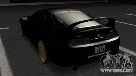Toyota Supra Mid Night para GTA San Andreas vista posterior izquierda