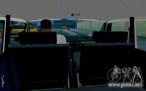 Moskvitch 412 De La Policía para visión interna GTA San Andreas