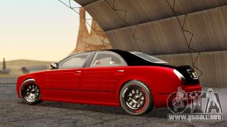 GTA 5 Enus Cognoscenti 55 Arm para GTA San Andreas vista posterior izquierda