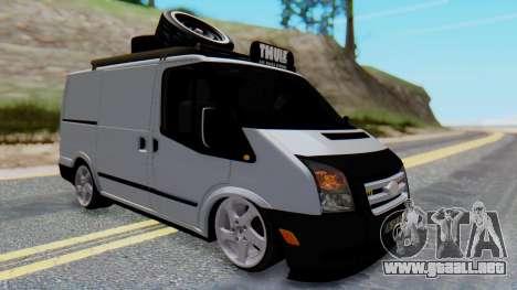 Ford Transit 2007 Model AirTran para la visión correcta GTA San Andreas