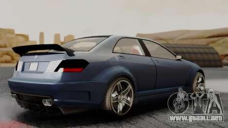 GTA 5 Benefactor Schafter V12 para GTA San Andreas vista posterior izquierda