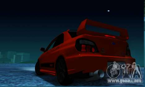 Subaru Impreza WRX STi LP 400 para GTA San Andreas left